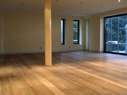 nach der fertigstellung - Laminat Holzdielenboden