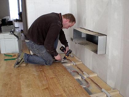 Hervorragend Holzdielenboden und Fußbodenheizung, Fußbodenheizung und NX71